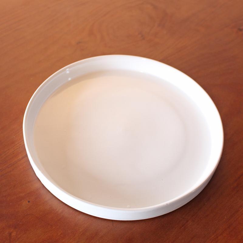 鉢皿 L 受け皿 陶器 直径21cm 高級感ある陶器製【鉢皿のみの購入不可】 fujimino 02