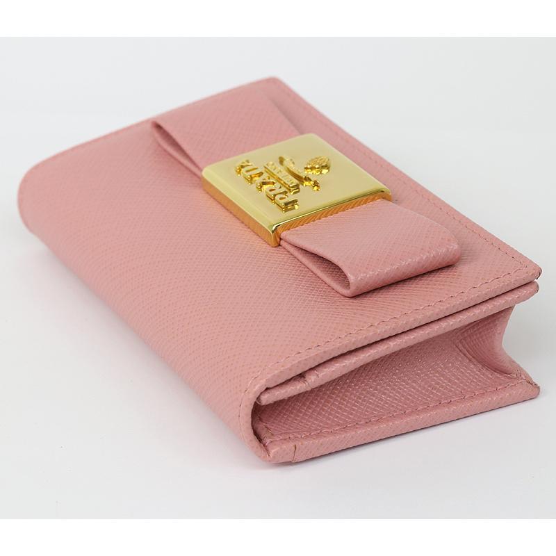 PRADA プラダ カードケース 名刺入 ピンク リボン 1MC122 2AEE (質屋 藤千商店)|fujisen78|03