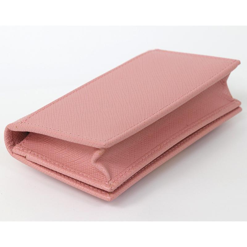 PRADA プラダ カードケース 名刺入 ピンク リボン 1MC122 2AEE (質屋 藤千商店)|fujisen78|04