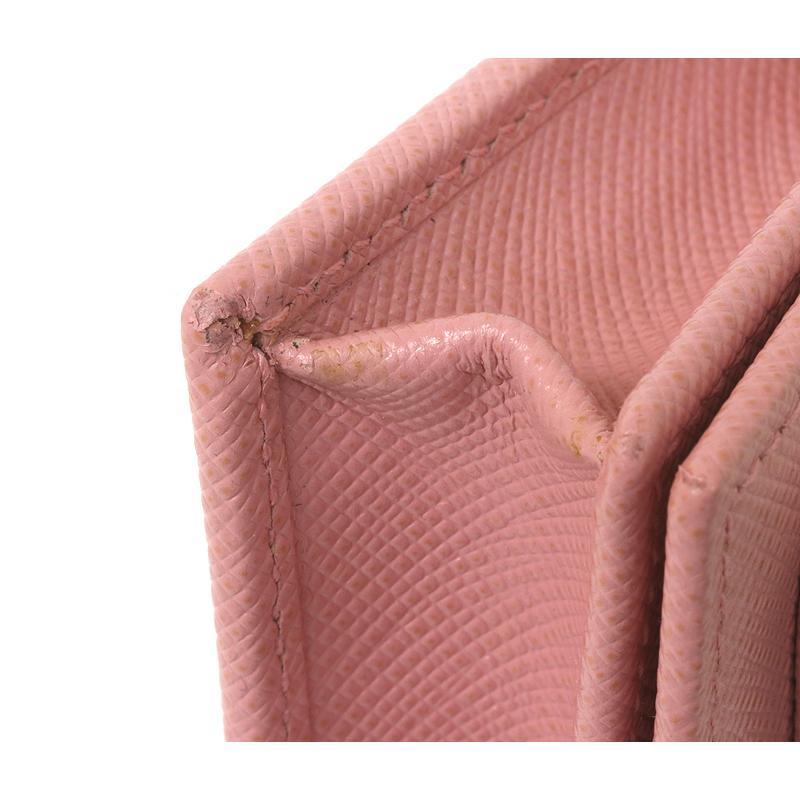 PRADA プラダ カードケース 名刺入 ピンク リボン 1MC122 2AEE (質屋 藤千商店)|fujisen78|05
