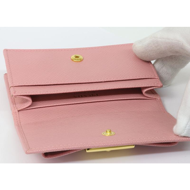 PRADA プラダ カードケース 名刺入 ピンク リボン 1MC122 2AEE (質屋 藤千商店)|fujisen78|07