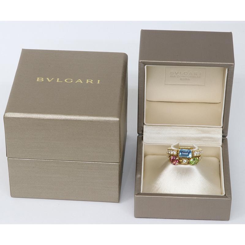 美品 BVLGARI ブルガリ アレグラ 2バンド リング 15.5号 18Kイエローゴールド(質屋 藤千商店)|fujisen78|09