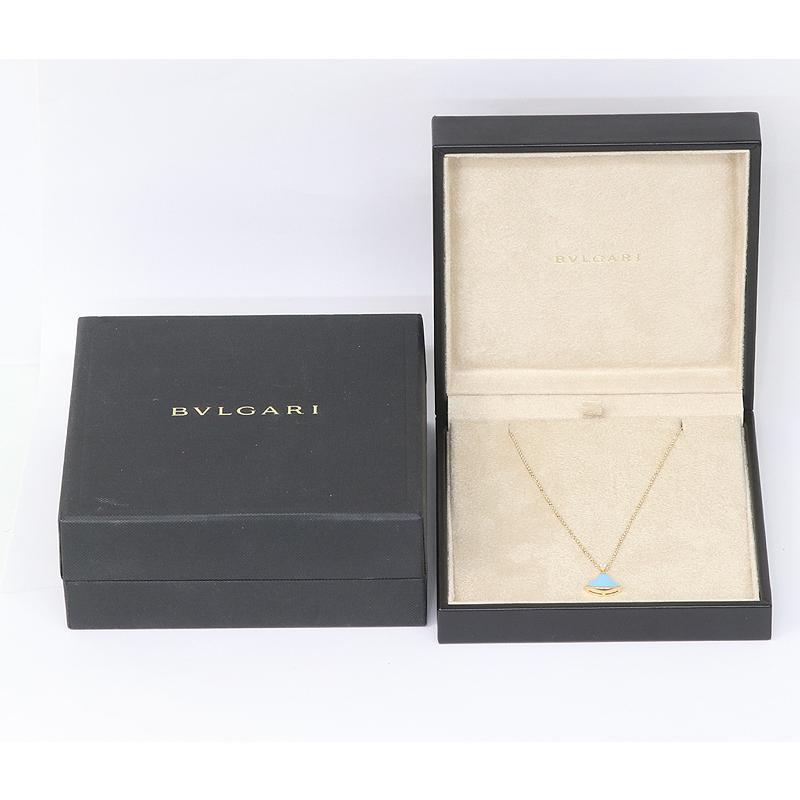 BVLGARI ブルガリ ディーヴァ ドリーム ネックレス ターコイズ 750 K18PG (質屋 藤千商店)|fujisen78|09