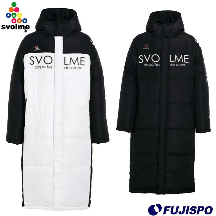 発熱中綿ベンチコート (1193-34704)スボルメ(SVOLME) ベンチコート ロングコート 中綿コート