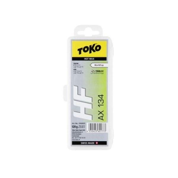 トコ TOKO ワックス WAX スキー スノーボード フッ素高含有 ハイフッ素 トリブロック HFホットワックス AX134 120g 5502025