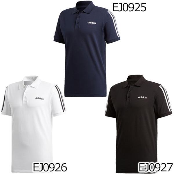 アディダス adidas メンズ ESSENTIALS 3ストライプス ポロシャツ GHQ38 メール便対応可|fujisports