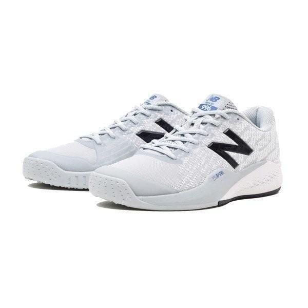 ニューバランス テニスシューズ オムニクレー MCO996G3 2E GRAY/白いカラー