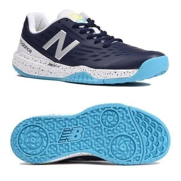 ニューバランス テニスシューズ オムニクレー レディース WCO796D1 D NAVY/青カラー