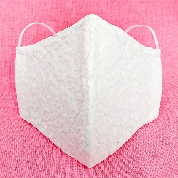 結婚式 母の日 レース マスク 日本製 洗える 布 ブライダル パーティ 女性用 Mサイズ おしゃれ かわいい アトリエフジタ|fujita2020|05