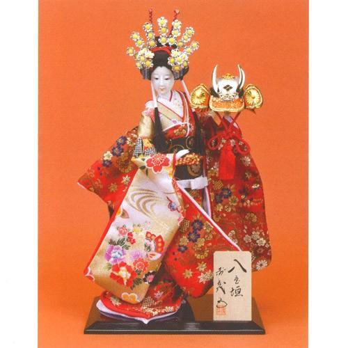 日本人形 尾山人形 『寿喜代作 八重垣 金らん 兜 10号』