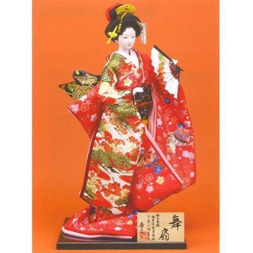 日本人形 尾山人形 極上本頭  『寿喜代作 舞扇 友禅 扇 12号』