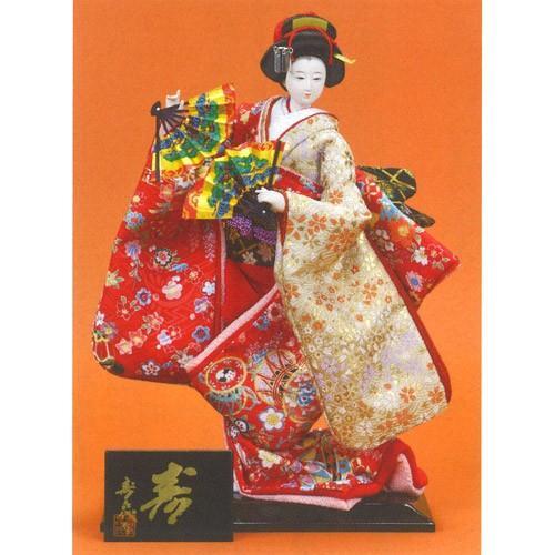 日本人形 尾山人形 『寿喜代作 寿 友禅 扇 6号』