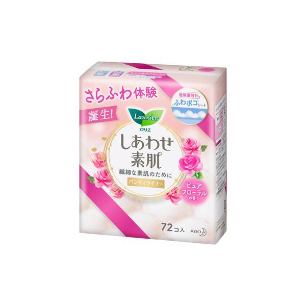 ロリエ しあわせ素肌 パンティライナー 特価キャンペーン ピュアフローラルの香り 人気 72個入×3個セット花王 KO