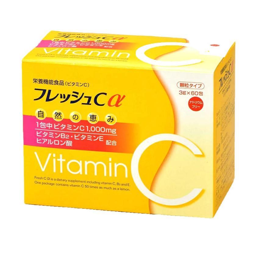 フレッシュCα(アルファ)180g(3g×60包)約2カ月分 ビタミンC ヒアルロン酸 ビタミンB ビタミンE レモン50個 fukai