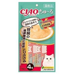 いなば CIAO チャオ ちゅ〜る 腎臓の健康維持に配慮 とりささみ 4本入り(14g×4本)×3コ|fuku-neko-ya|02