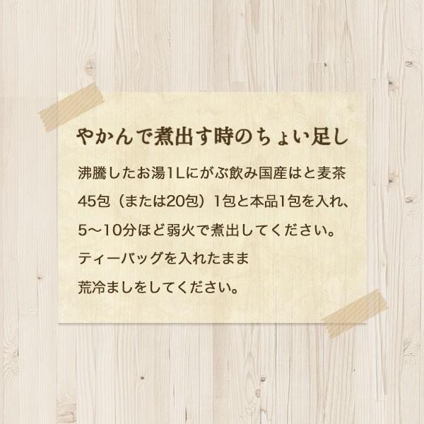 はと麦茶 国産 ハトムギ ティーバッグ 250g(2.5g×100包) マイボトル専用 はとむぎ 麦茶 大容量 ノンカフェイン|fukucha|11