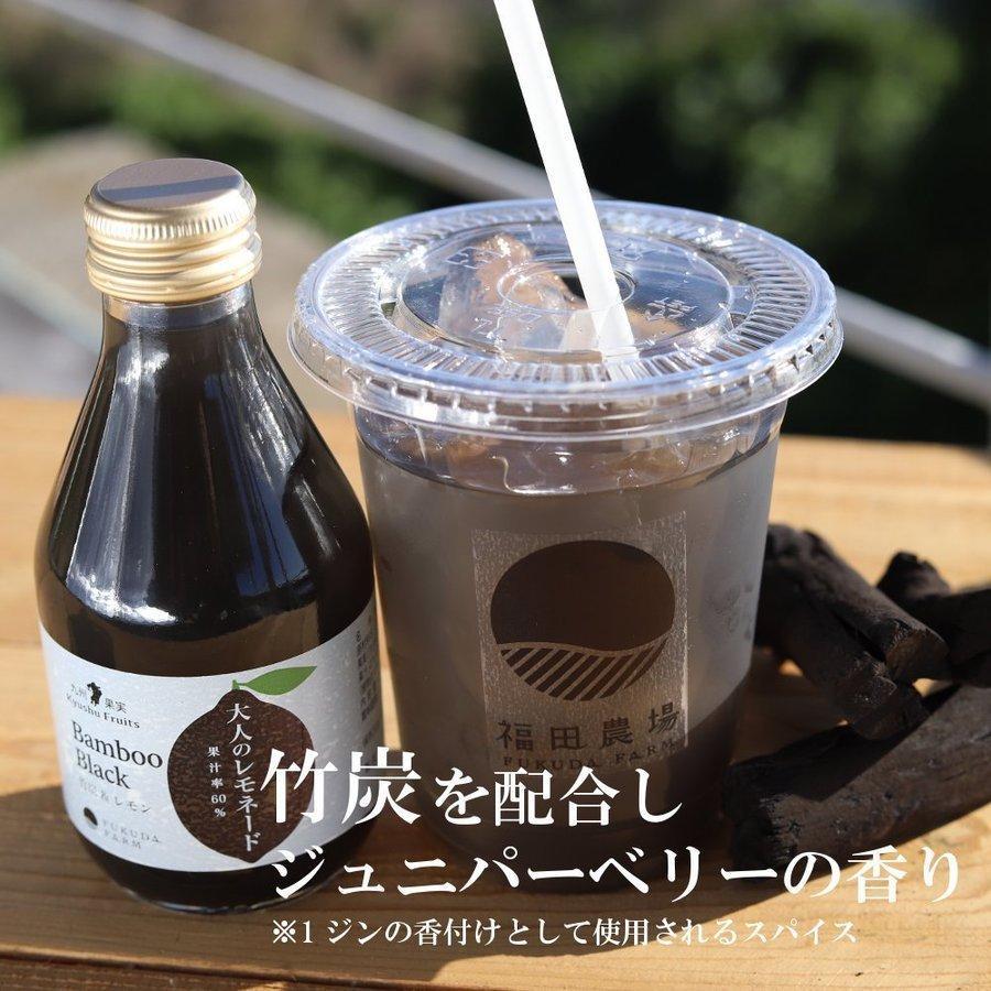 竹炭パウダー入り 食用竹炭 40mg チャコールクレンズ レモネード ノンアルコールカクテル  竹炭&レモン 果汁60% ジンフレーバー 180ml 10本セット|fukuda-farm|04