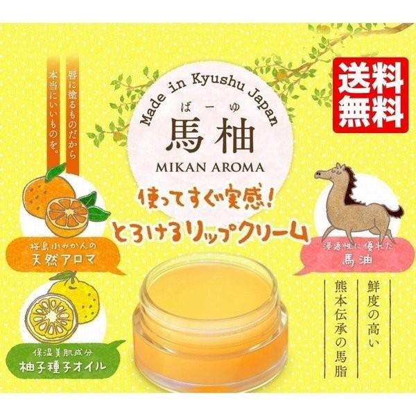 お試し 送料無料 馬柚(馬油) リップクリーム 乾燥対策 天然アロマ 桜島小みかん|fukuda-farm