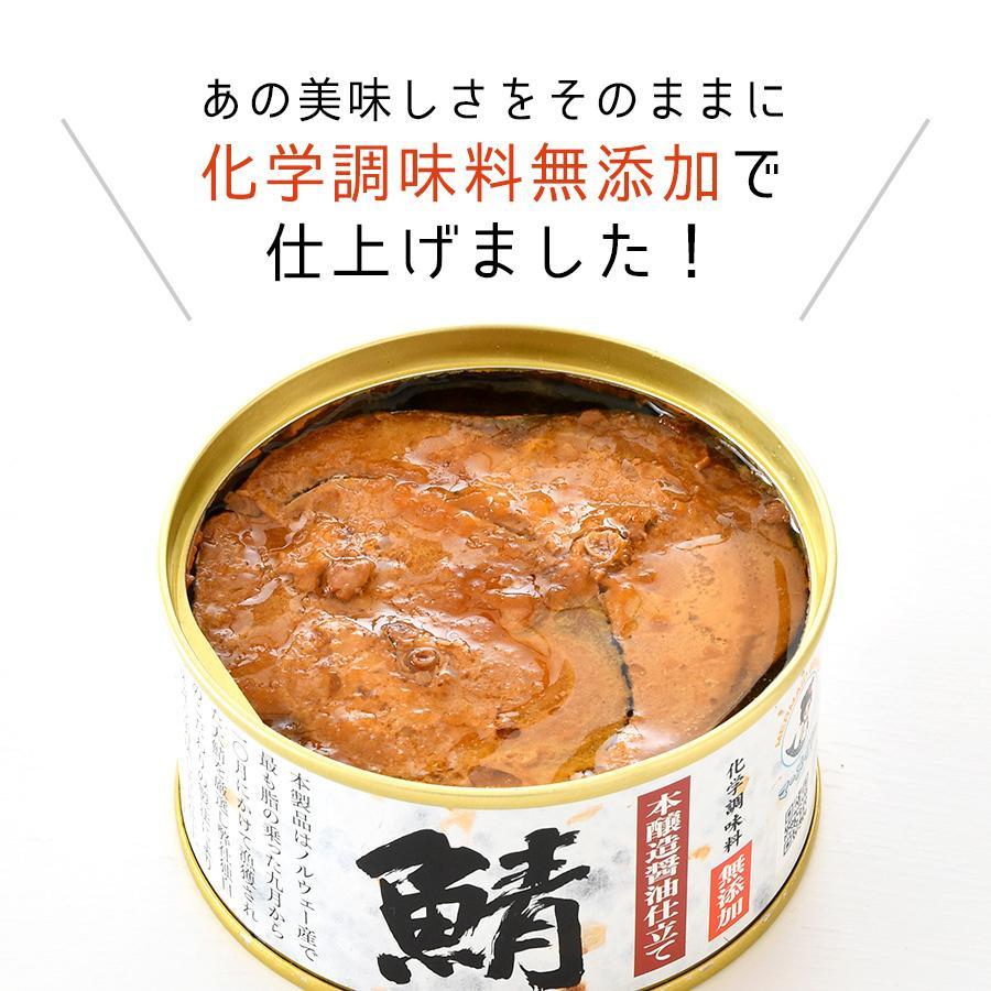 鯖缶 味付醤油仕立て 無添加 6缶 缶詰 高級 サバ缶 非常食 ノルウェー産 福井缶詰 fukuican 02
