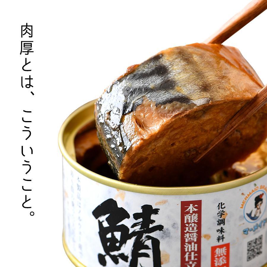 鯖缶 味付醤油仕立て 無添加 6缶 缶詰 高級 サバ缶 非常食 ノルウェー産 福井缶詰 fukuican 03