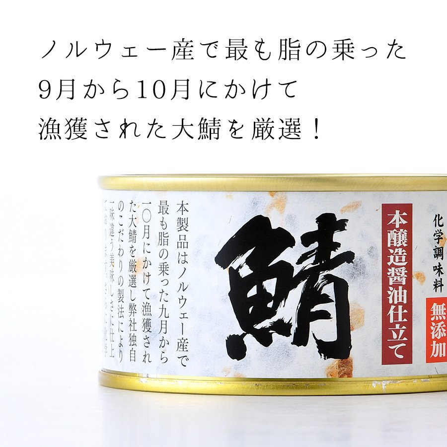 鯖缶 味付醤油仕立て 無添加 12缶 缶詰 高級 サバ缶 非常食 ノルウェー産 福井缶詰|fukuican|05