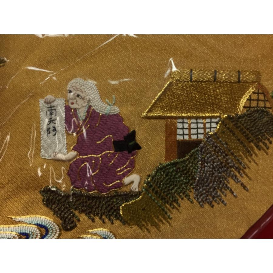 打敷 親鸞聖人川越え 本金手刺繍 大仏用 上卓7寸 前卓1尺8寸用 fukuiyashintaro 02