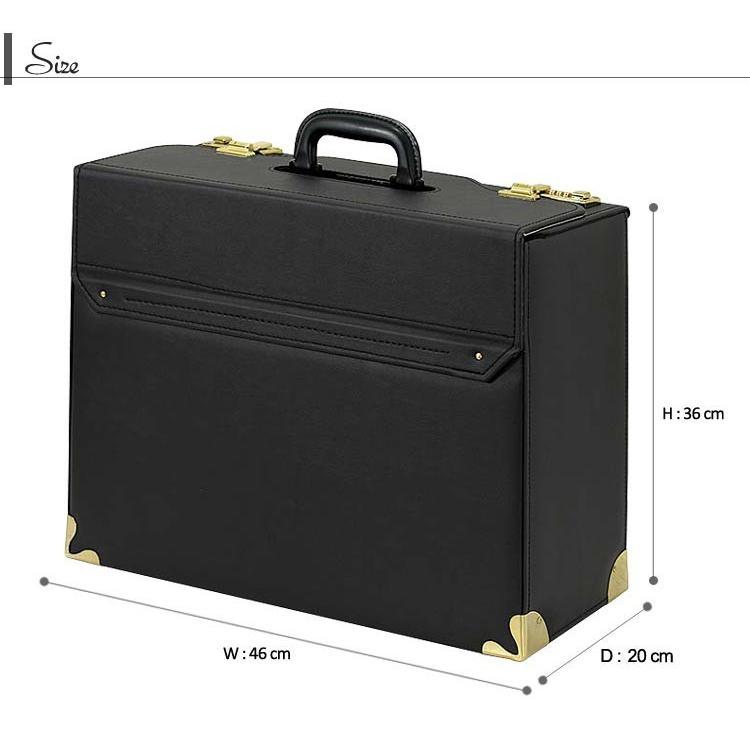 ビジネスバッグ アタッシュケース 日本製 パイロットケース マチ広幅タイプ 24-0345 A3|fukukichi|02