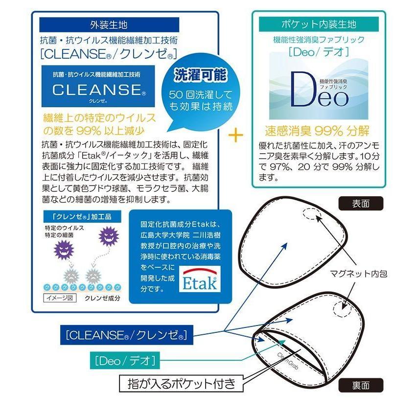 メール便送料無料 クリーンで快適 抗菌・抗ウイルス ハンドルカバー クリーングラブ 日本製|fukukichi|02