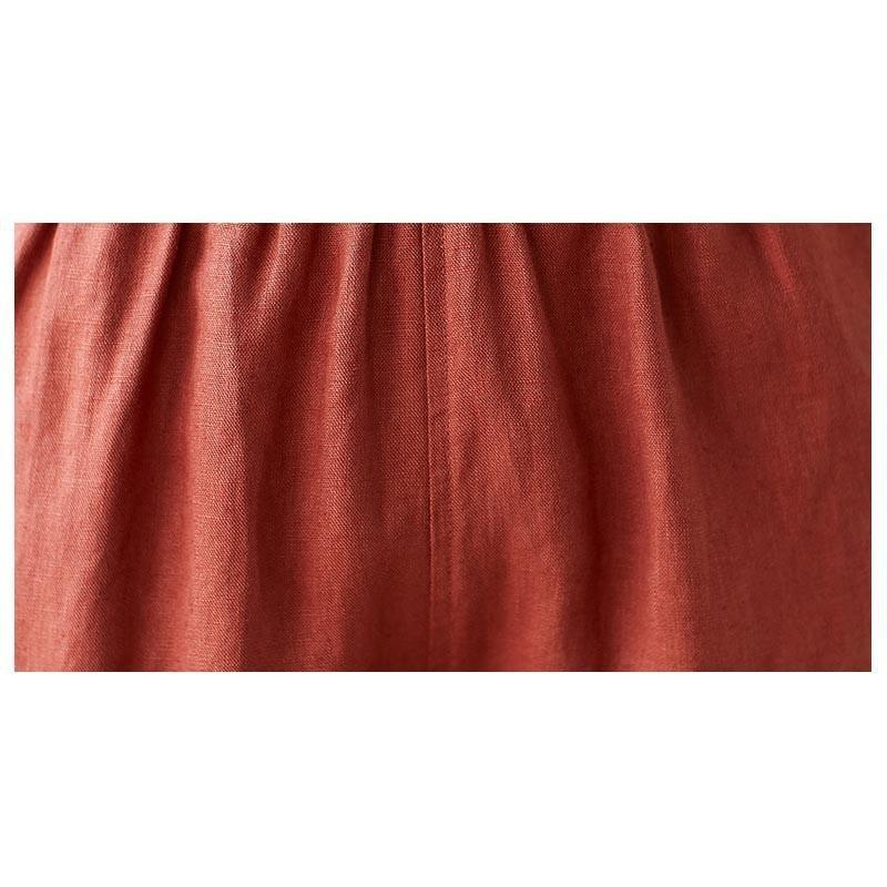 ボトムス テーパードパンツ パンツ サルエルパンツ 綿パンツ レディース カジュアル ポケット付き ゆったり コットン リネン 綿 大きいサイズ コーデ 春|fukumarufukumaru|21