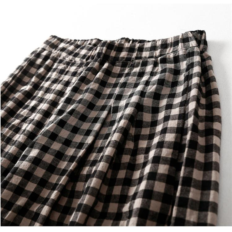 パンツ ワイドパンツ ボトムス スカーチョ ガウチョ スカンツ レディース チェック柄 ガウチョパンツ 大きいサイズ ロングパンツ ゆったり 体型カバー|fukumarufukumaru|11