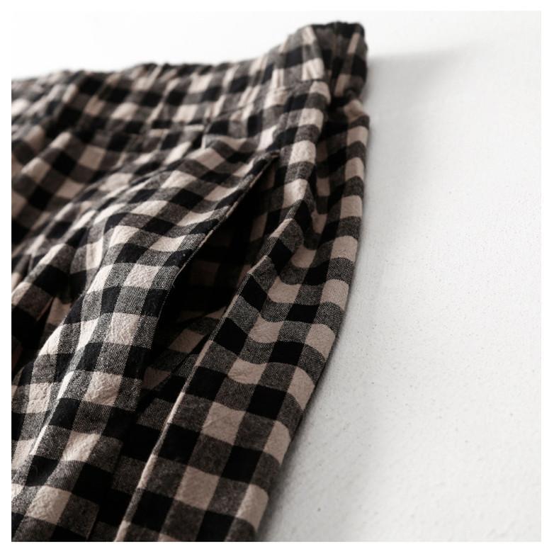 パンツ ワイドパンツ ボトムス スカーチョ ガウチョ スカンツ レディース チェック柄 ガウチョパンツ 大きいサイズ ロングパンツ ゆったり 体型カバー|fukumarufukumaru|12