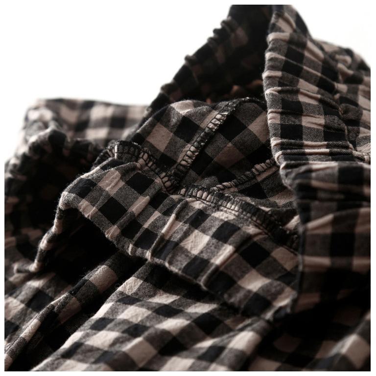 パンツ ワイドパンツ ボトムス スカーチョ ガウチョ スカンツ レディース チェック柄 ガウチョパンツ 大きいサイズ ロングパンツ ゆったり 体型カバー|fukumarufukumaru|13