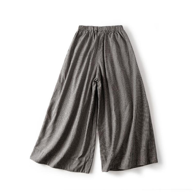 パンツ ワイドパンツ ボトムス スカーチョ ガウチョ スカンツ レディース チェック柄 ガウチョパンツ 大きいサイズ ロングパンツ ゆったり 体型カバー|fukumarufukumaru|05