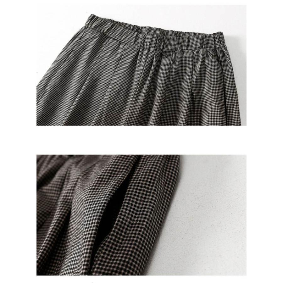パンツ ワイドパンツ ボトムス スカーチョ ガウチョ スカンツ レディース チェック柄 ガウチョパンツ 大きいサイズ ロングパンツ ゆったり 体型カバー|fukumarufukumaru|06
