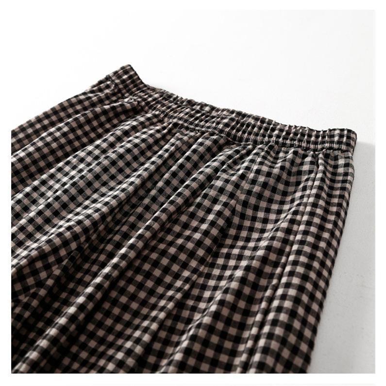 パンツ ワイドパンツ ボトムス スカーチョ ガウチョ スカンツ レディース チェック柄 ガウチョパンツ 大きいサイズ ロングパンツ ゆったり 体型カバー|fukumarufukumaru|08