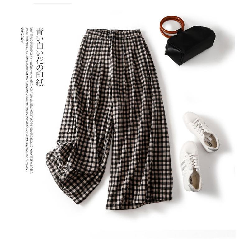 パンツ ワイドパンツ ボトムス スカーチョ ガウチョ スカンツ レディース チェック柄 ガウチョパンツ 大きいサイズ ロングパンツ ゆったり 体型カバー|fukumarufukumaru|10