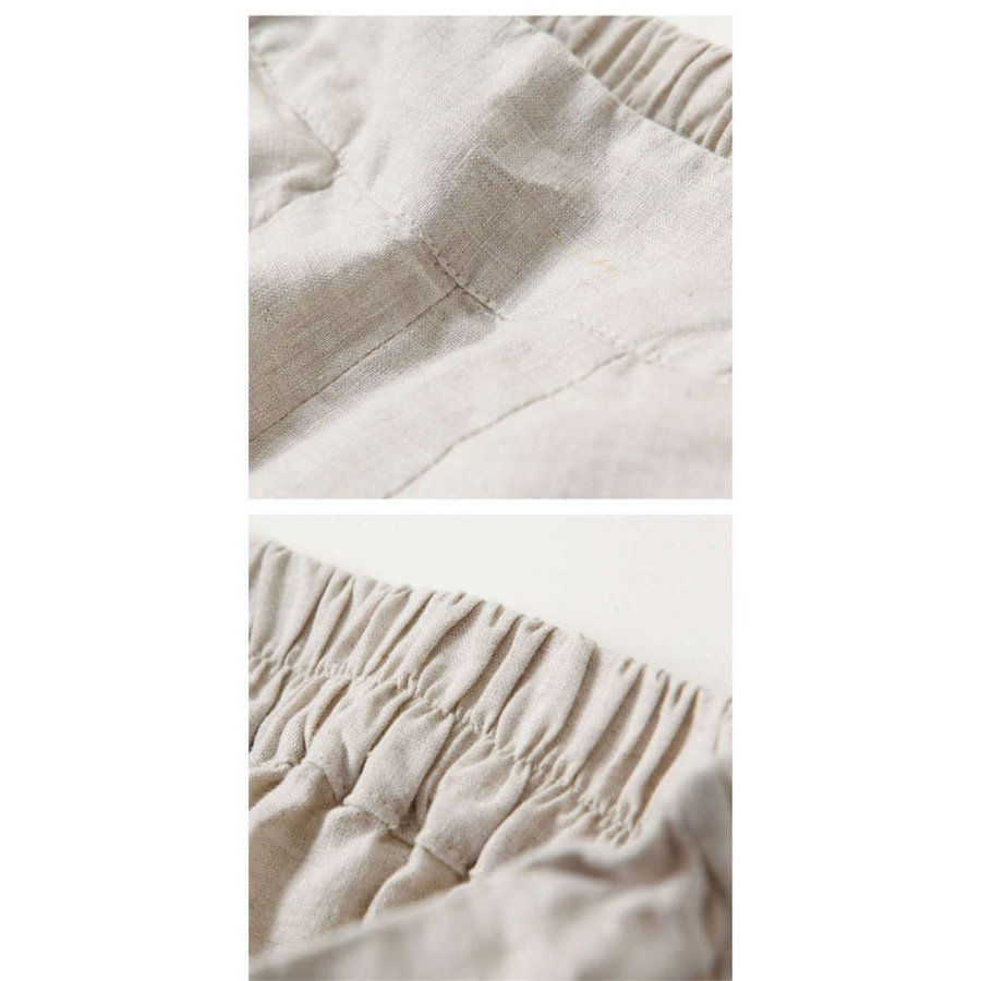 ワイドパンツ レディース 夏 ボトムス パンツ スカーチョ ガウチョ スカンツ 無地 リネン ガウチョパンツ 大きいサイズ ロングパンツ ゆったり 体型カバー40代|fukumarufukumaru|09