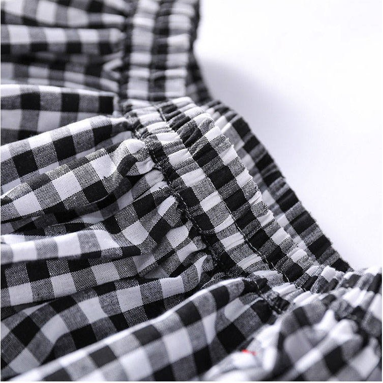 ワイドパンツ レディース 夏 秋 ボトムス ロングパンツ スカーチョ ガウチョ スカンツ チェック柄 綿 ガウチョパンツ 大きいサイズ ゆったり 体型カバー|fukumarufukumaru|12