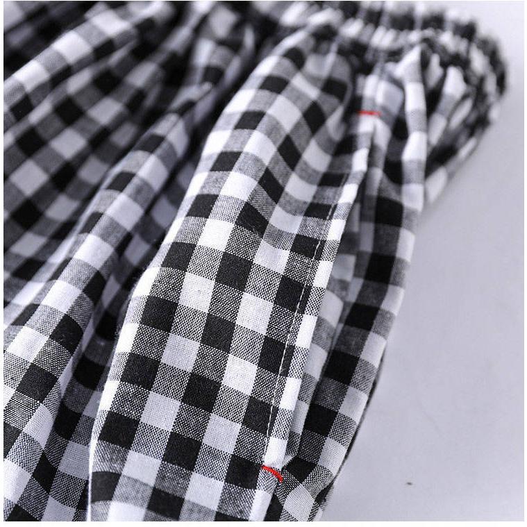 ワイドパンツ レディース 夏 秋 ボトムス ロングパンツ スカーチョ ガウチョ スカンツ チェック柄 綿 ガウチョパンツ 大きいサイズ ゆったり 体型カバー|fukumarufukumaru|13