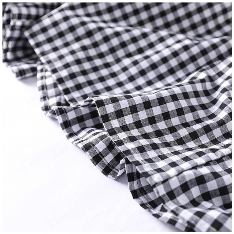 ワイドパンツ レディース 夏 秋 ボトムス ロングパンツ スカーチョ ガウチョ スカンツ チェック柄 綿 ガウチョパンツ 大きいサイズ ゆったり 体型カバー|fukumarufukumaru|14