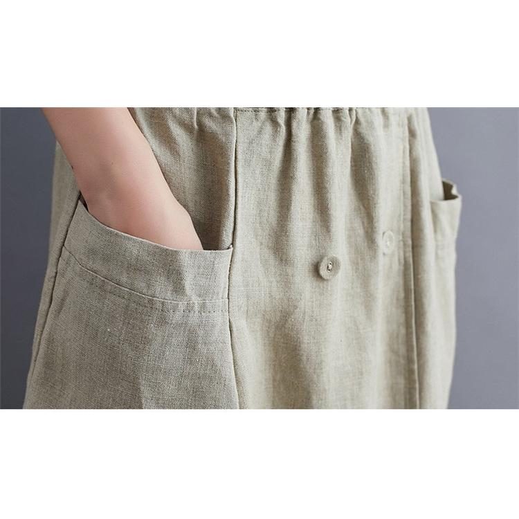 ロングスカート レディース スカート Aライン マキシ丈 綿麻スカート リネン 無地 ボトムス ウエストゴム 体型カバー 着やせ 脚長効果 大人 おしゃれ 30代 40代|fukumarufukumaru|20