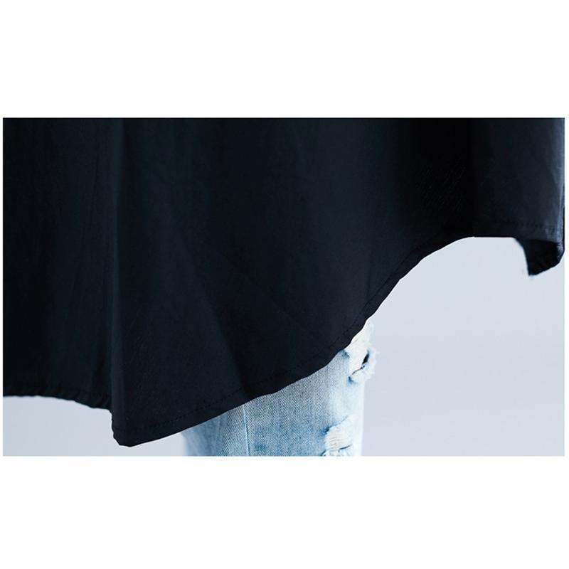シャツ ロングシャツ 長袖 春 春物 重ね着 コーデ チュニック レディース トップス 無地 ボタン止め フレアシルエット 不規則裾 ゆったり コットン 着まわし fukumarufukumaru 15