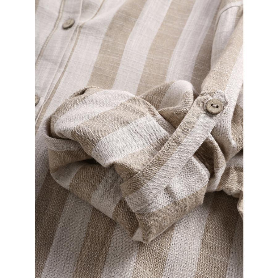 ブラウス シャツブラウス トップス ロングシャツ レディース ストライプ柄 チュニック 柄 体型カバー 長袖 大きいサイズ アウター シンプル きれいめ 40代 fukumarufukumaru 11