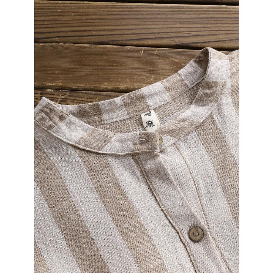 ブラウス シャツブラウス トップス ロングシャツ レディース ストライプ柄 チュニック 柄 体型カバー 長袖 大きいサイズ アウター シンプル きれいめ 40代 fukumarufukumaru 10