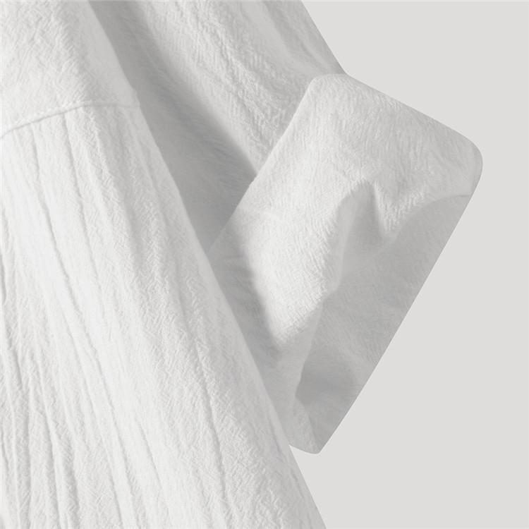 ロングシャツ ブラウス シャツ トップス シャツブラウス レディース チュニック ロング 折り襟 綿麻 長袖 無地 ポケット 体型カバー ゆったり シンプル 30代|fukumarufukumaru|08