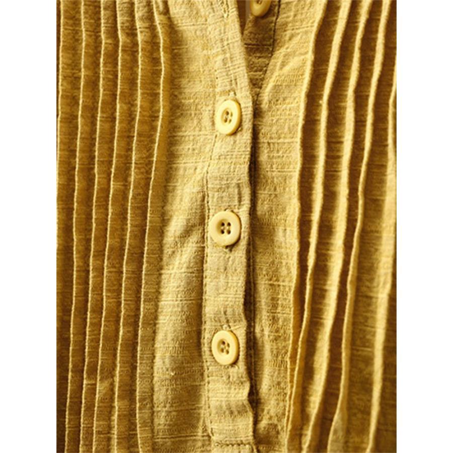 ブラウス 長袖 トップス プルオーバー レディース 夏 シャツ 春 40代 無地 チュニック Uネック リネン 綿麻 ゆったり 大きいサイズ カットソー サイズお揃い|fukumarufukumaru|09