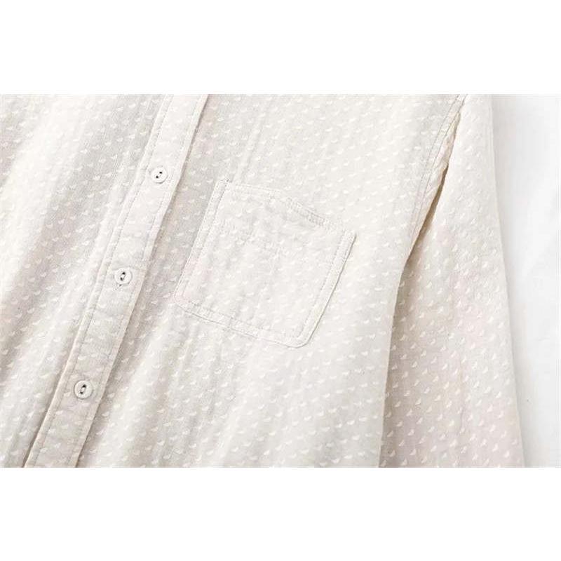 短納期 シャツ 長袖 トップス ガーゼ レディース 秋 コットン 綿 ガーゼシャツ シャツブラウス 通気性 シンプル 折襟 ボタン留め 大きいサイズ 着心地いい fukumarufukumaru 10