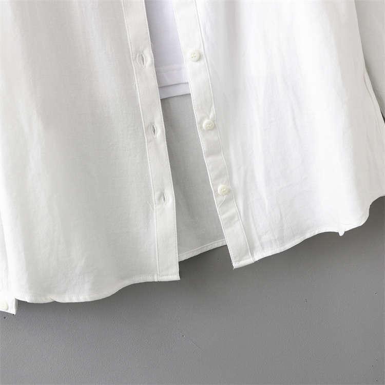 シャツ 長袖 トップス ワイシャツ レディース 秋 コットン 綿 シャツブラウス 綿シャツ 通気性 シンプル ボタン留め 前開き 着心地いい カジュアル|fukumarufukumaru|11