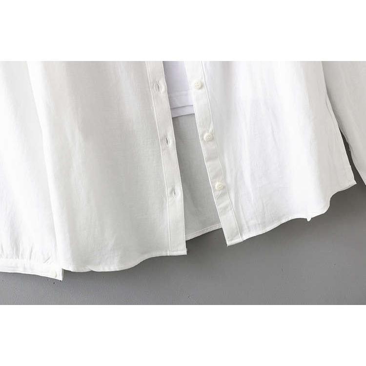 シャツ 長袖 トップス ワイシャツ レディース 秋 コットン 綿 シャツブラウス 綿シャツ 通気性 シンプル ボタン留め 前開き 着心地いい カジュアル|fukumarufukumaru|12