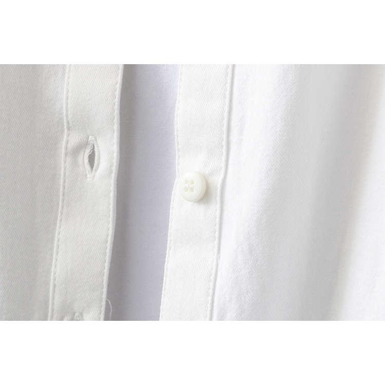 シャツ 長袖 トップス ワイシャツ レディース 秋 コットン 綿 シャツブラウス 綿シャツ 通気性 シンプル ボタン留め 前開き 着心地いい カジュアル|fukumarufukumaru|14